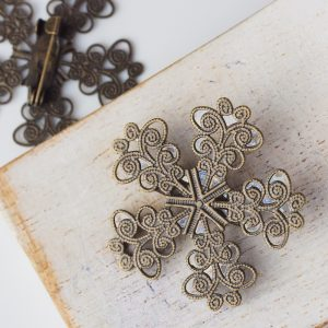 35×35 mm brooch antique bronze x 1 pc(s)