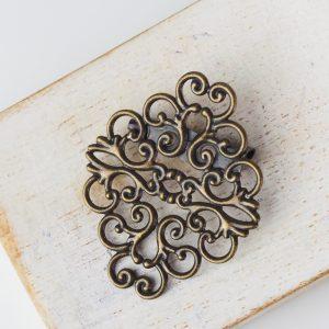 37x30 mm brooch antique bronze x 1 pc(s)