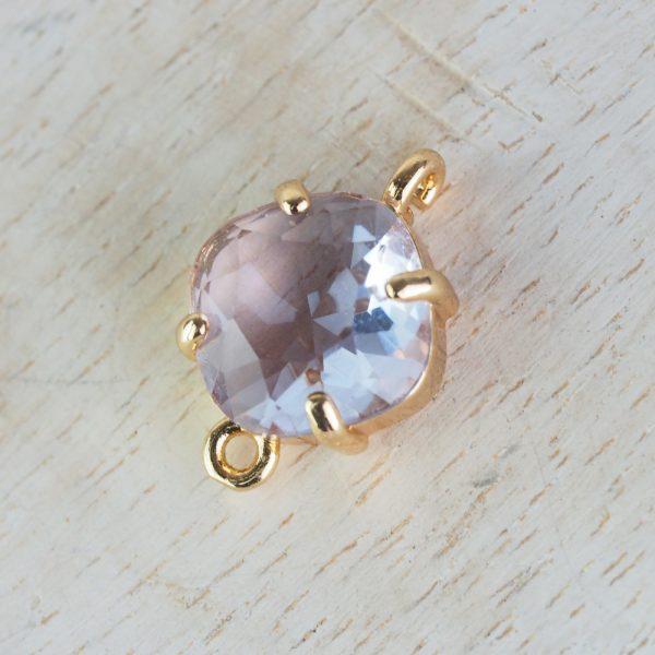 17x11 mm cushion cut crystal connector Light Lavender x 1 pc(s)
