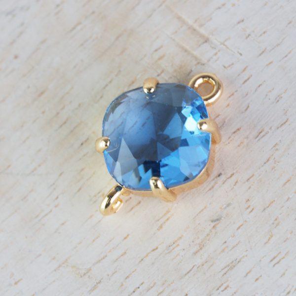 17x11 mm cushion cut crystal connector Sapphire Blue x 1 pc(s)