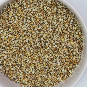 Miyuki Delica 11/0 beads nr. 2262 Canary Yellow Matte Picasso x 5 g