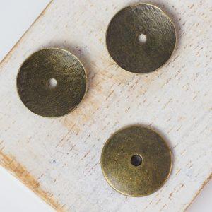 15x15 mm metal bead bronze x 10 pc(s)