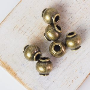 8.5x8.5 mm metal bead bronze x 10 pc(s)