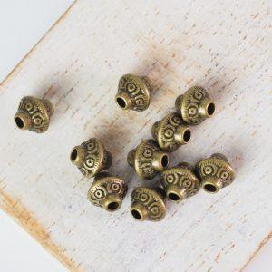 6.5x6.5 mm metal bead bronze x 20 pc(s)