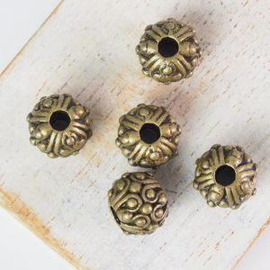 11x8 mm metal bead bronze x 5 pc(s)