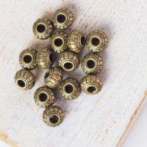 6x4.5 mm metal bead bronze x 10 pc(s)
