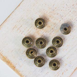 7x4.5 mm metal bead bronze x 10 pc(s)