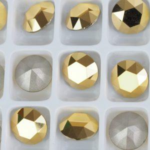 8 mm Preciosa crystal chaton Crystal Aurum x 1 pc(s)