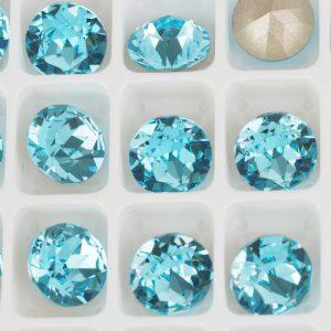 8 mm Preciosa crystal chaton Aqua Bohemica x 1 pc(s)