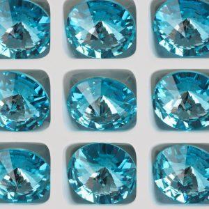 12 mm Preciosa crystal rivoli Aqua Bohemica x 1 pc(s)