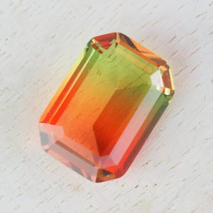 13x18 mm rectangle glass cabochon Apple Cake Rainbow x 1 pc(s)