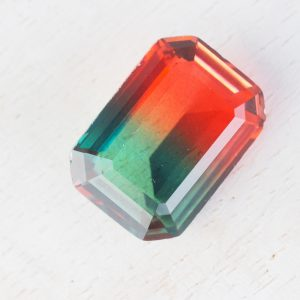 13x18 mm rectangle glass cabochon Firefly Rainbow x 1 pc(s)
