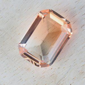 13x18 mm rectangle glass cabochon Peach Topaz Rainbow x 1 pc(s)