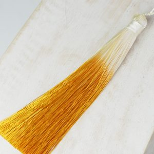 13 cm tassel imitation silk Ombré Mustard Yellow 1 x pc(s)