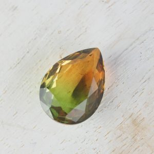 13x18 mm teardrop glass cabochon Transparent Falling Leaves Rainbow x 1 pc(s)