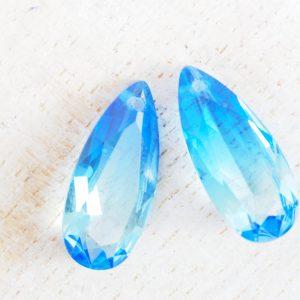 Pear glass pendants
