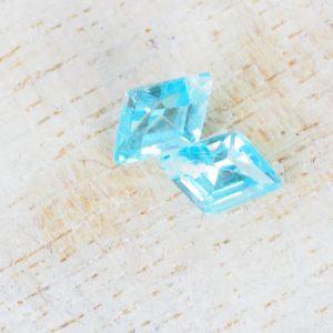 10x7 mm Cubic Zirconia pendant Aquamarine Blue x 1 pc(s)