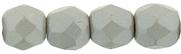 3 mm fire polished round beads Powdery - Pastel Gray x 100 pc(s)