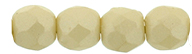 3 mm fire polished round beads Powdery - Beige x 100 pc(s)
