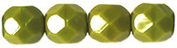 6 mm fire polished round beads Opaque Olive x 40 pc(s)