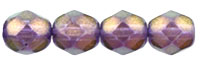6 mm fire polished round beads Halo Regal x 40 pc(s)