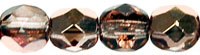 6 mm fire polished round beads Copper Light Amethyst x 40 pc(s)