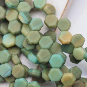 6 mm Honeycomb beads Hodge Podge Seafoam Matt x 30 pc(s)