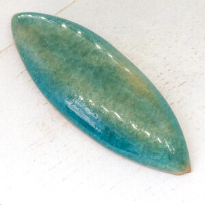 Big Navette L2Studio cabochon Barbados on light clay x 1 pc(s)