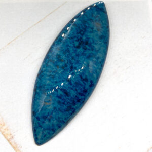 Big Navette L2Studio cabochon Blue Effect on light clay x 1 pc(s)