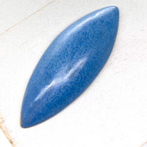 Big Navette L2Studio cabochon Flemish blue on light clay x 1 pc(s)