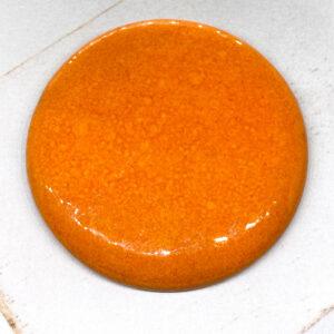 Big Round L2Studio cabochon Orange on light clay x 1 pc(s)