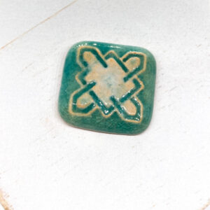 Celtic Square L2Studio cabochon Barbados on light clay x 1 pc(s)