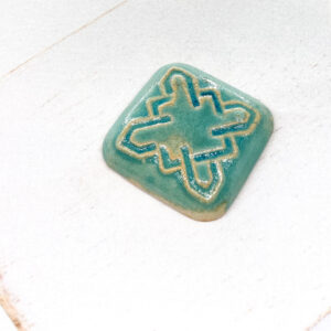 Celtic Square L2Studio cabochon Crystal Turquoise on light clay x 1 pc(s)