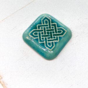 Celtic Square L2Studio cabochon Turquoise Patina on light clay x 1 pc(s)