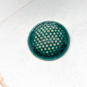Dotty L2Studio cabochon Crystal Turquoise on light clay x 1 pc(s)