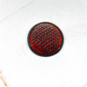 Dotty L2Studio cabochon Red Flame on Black Porcelaine x 1 pc(s)