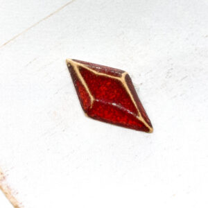 Galaxy Diamond L2Studio cabochon Red Lava on light clay x 1 pc(s)