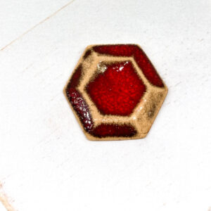 Galaxy Hex L2Studio cabochon Red Lava on light clay x 1 pc(s)