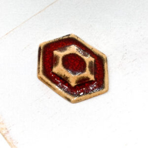 Galaxy Octave L2Studio cabochon Red Lava on light clay x 1 pc(s)