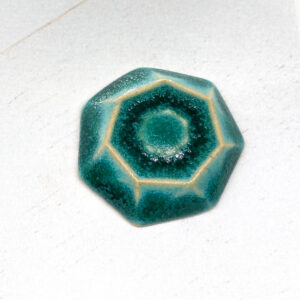Galaxy Whirl L2Studio cabochon Crystal Turquoise on light clay x 1 pc(s)