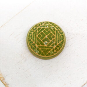 Mandala L2Studio cabochon Smaragd Green on light clay x 1 pc(s)
