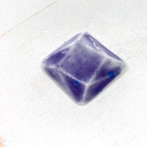 Rotated Square L2Studio cabochon Blue Lila on Light Porcelaine x 1 pc(s)