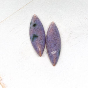 Small Navette L2Studio cabochon Tiffany BlueLila on light clay x 1 pc(s)