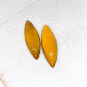 Small Navette L2Studio cabochon Warm Yellow Dark on light clay x 1 pc(s)