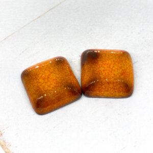 Small Puffy Square L2Studio cabochon Lava on dark clay x 1 pc(s)