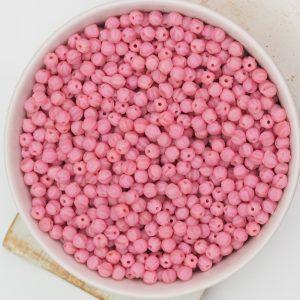 3 mm Melon beads Matte Coral Pink x 100 pc(s)