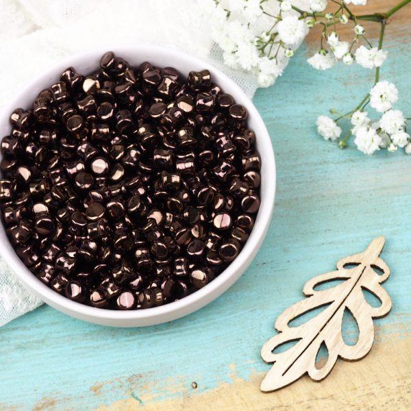 4 mm Pellet beads Dark Bronze x 30 pc(s)