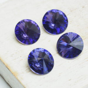 10 mm round glass cabochon Purple Velvet x 4 pc(s)