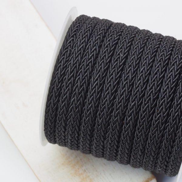 7x4 mm decorative cord Black x 0.5 m