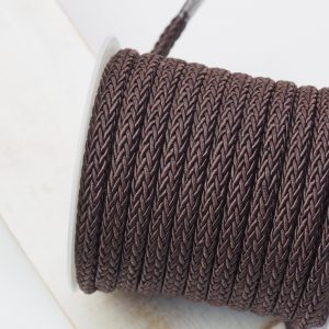7x4 mm decorative cord Brown x 0.5 m